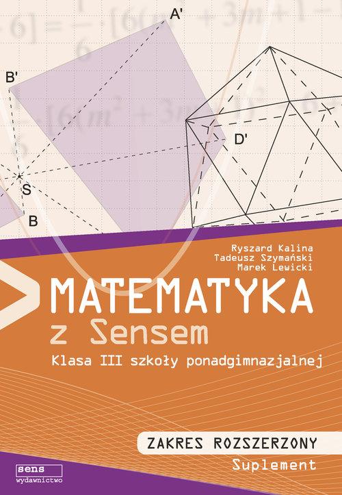 Matematyka z sensem 3 Podręcznik Zakres rozszerzony