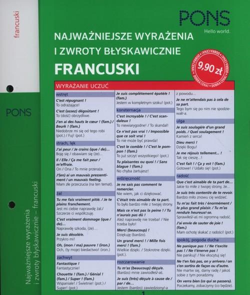 Błyskawicznie zwroty i wyrażenia francuskie