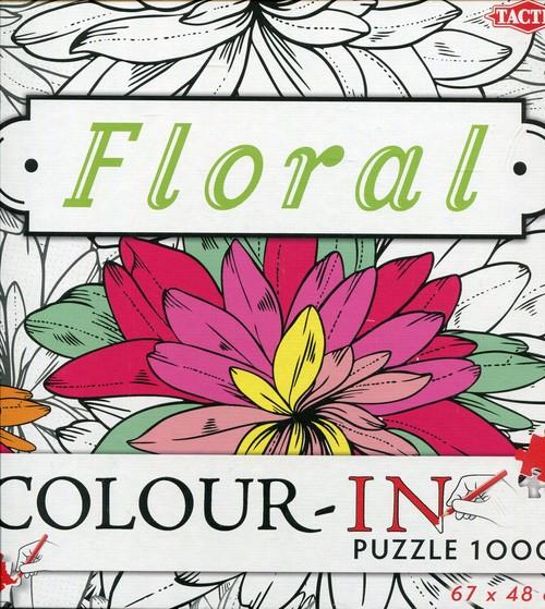 Puzzle Floral Color-In do kolorowania 1000