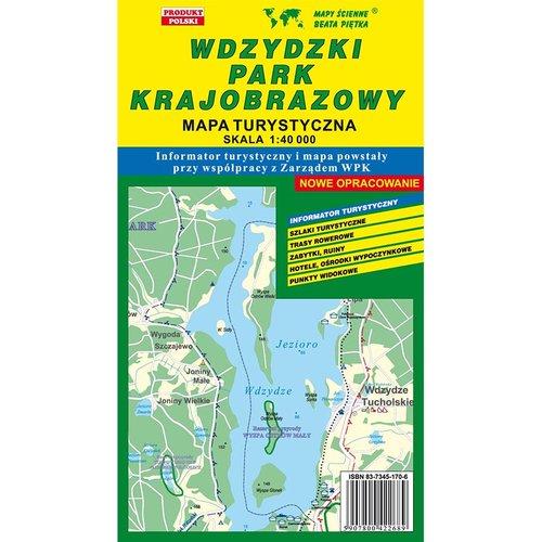 Wdzydzki Park Krajobrazowy mapa turystyczna 1:40 000