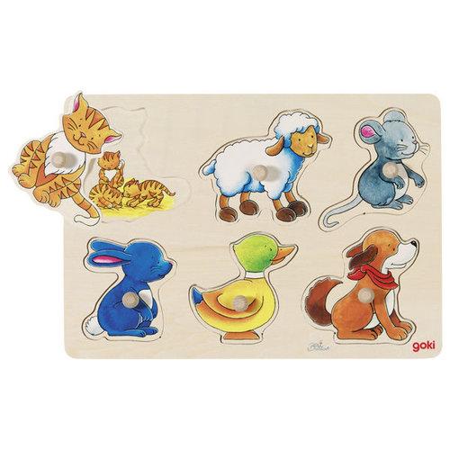 Układanka - puzzle z uchwytami, Mama i dzieci