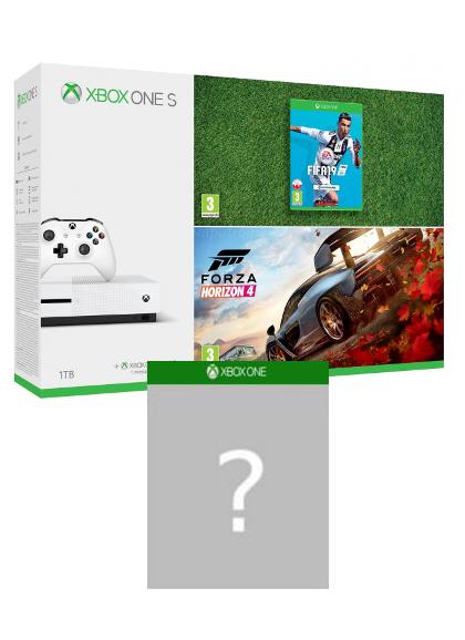 Konsola Xbox One S 1TB + Forza Horizon 4 + FIFA 19 + gra-niespodzianka