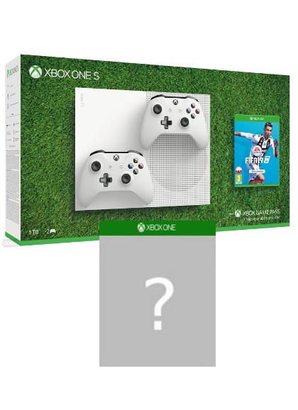 Konsola Xbox One S 1TB + FIFA 19 + gra-niespodzianka + dodatkowy kontroler