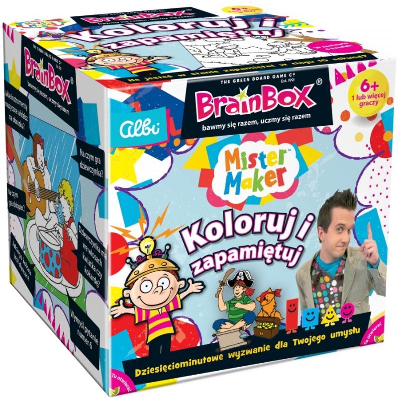Brain Box Koloruj i Zapamiętuj (Gra planszowa)