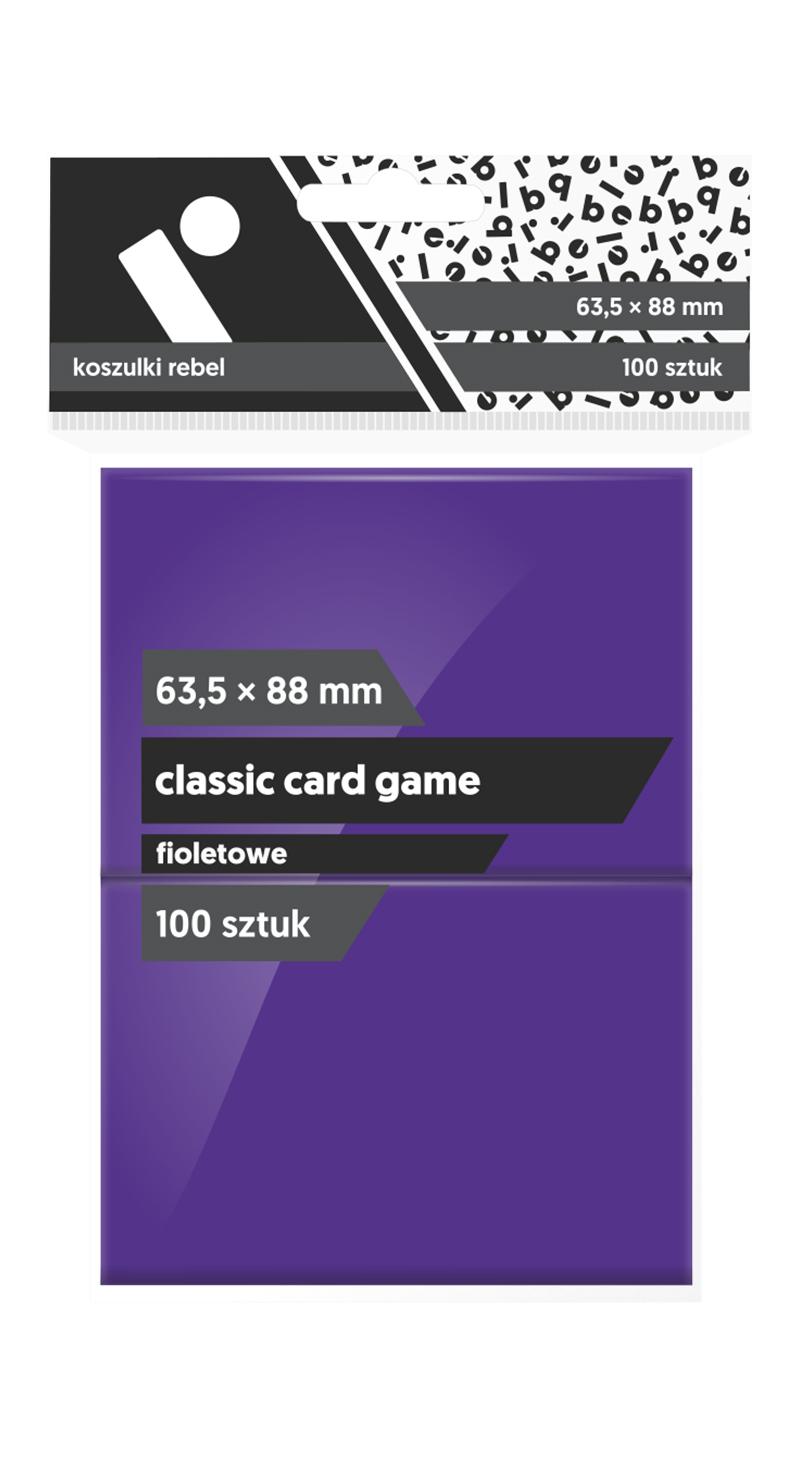 """Koszulki na karty Rebel (63,5x88 mm) """"Classic Card Game"""", 100 sztuk, Fioletowe"""