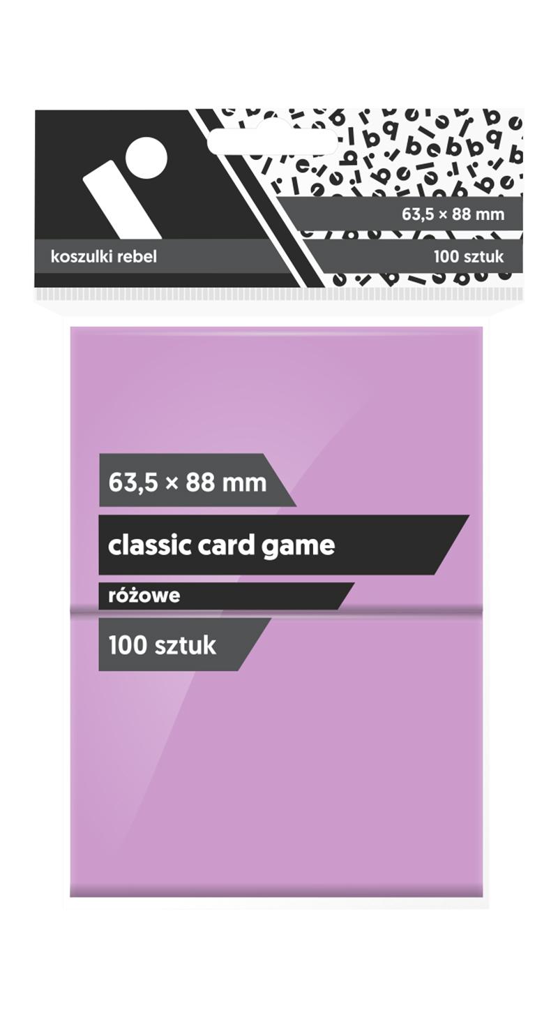 """Koszulki na karty Rebel (63,5x88 mm) """"Classic Card Game"""", 100 sztuk, Różowe"""
