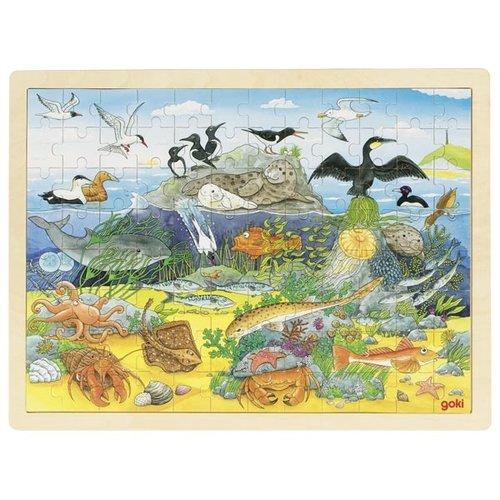 Puzzle zwierzęta nadmorskie i podwodne 96