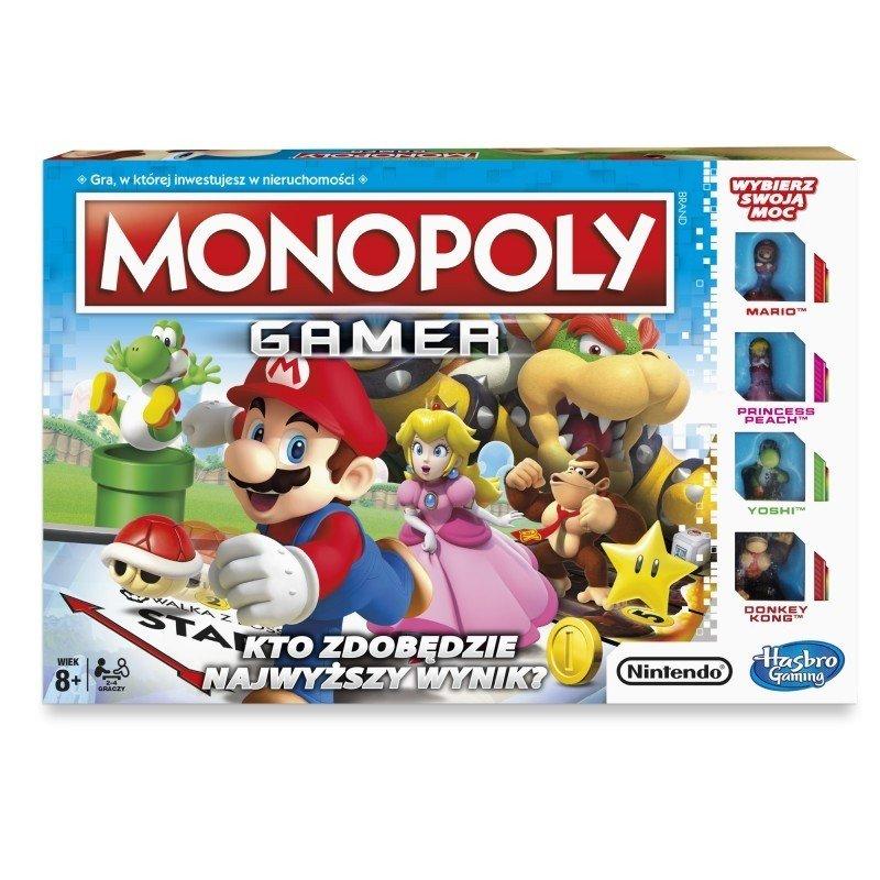 Monopoly Gamer + 2 figurki Gamer Power Pack(Gra Planszowa)