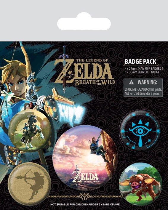 Przypinki The Legend of Zelda Breath of the Wild 5 sztuk