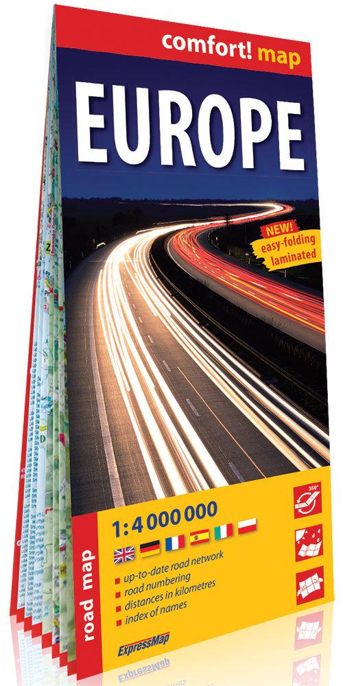 Europa (Europe) 1:4 000 000 laminowana mapa samochodowa