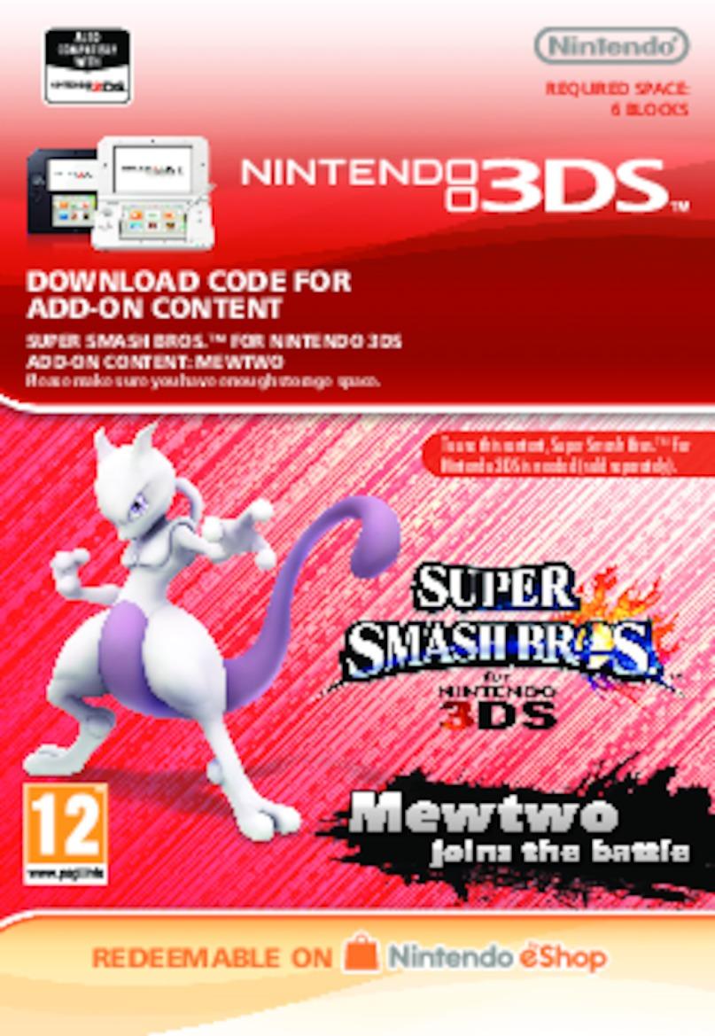 Super Smash Bros.: Mewtwo (3DS) DIGITAL