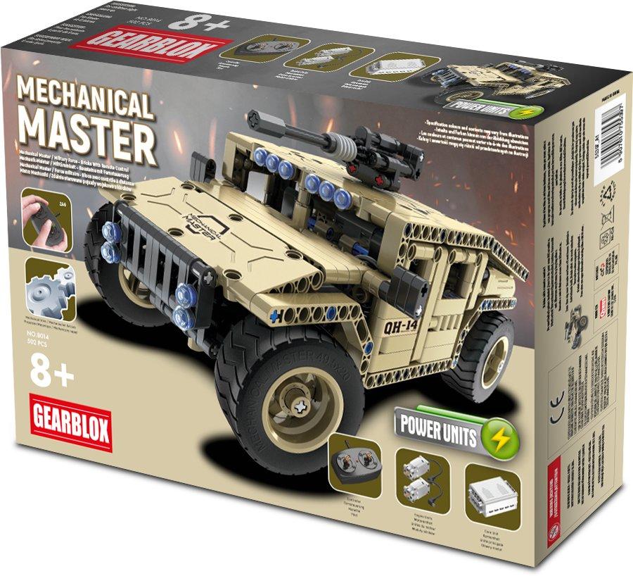 Klocki konstrukcyjne Gearblox Mechanical Master Wojskowy Samochód Terenowy