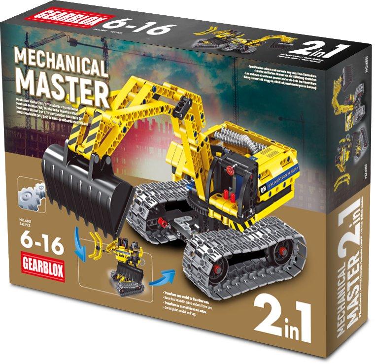 Klocki konstrukcyjne Gearblox Mechanical Master 2w1 - Koparka/Robot