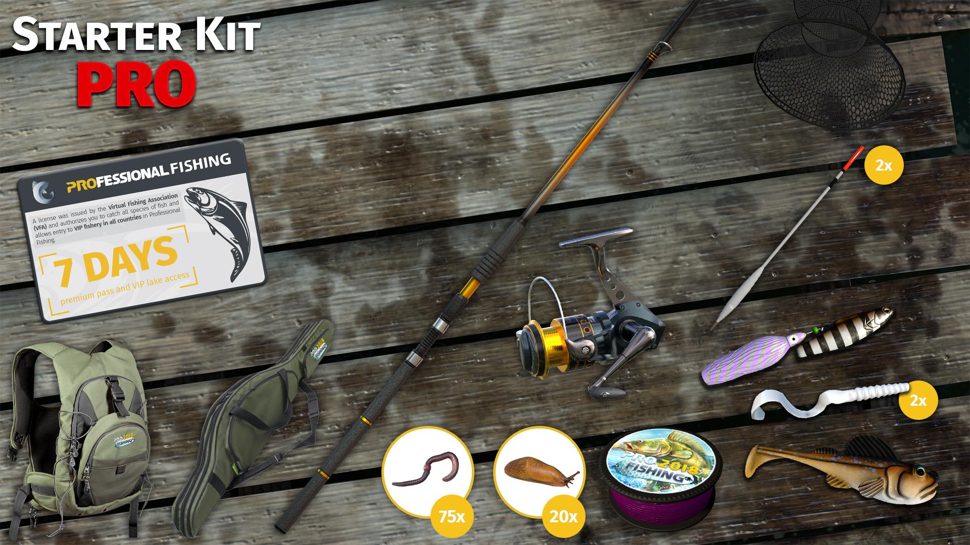 Professional Fishing - Starter Kit Pro (PC) Klucz Steam