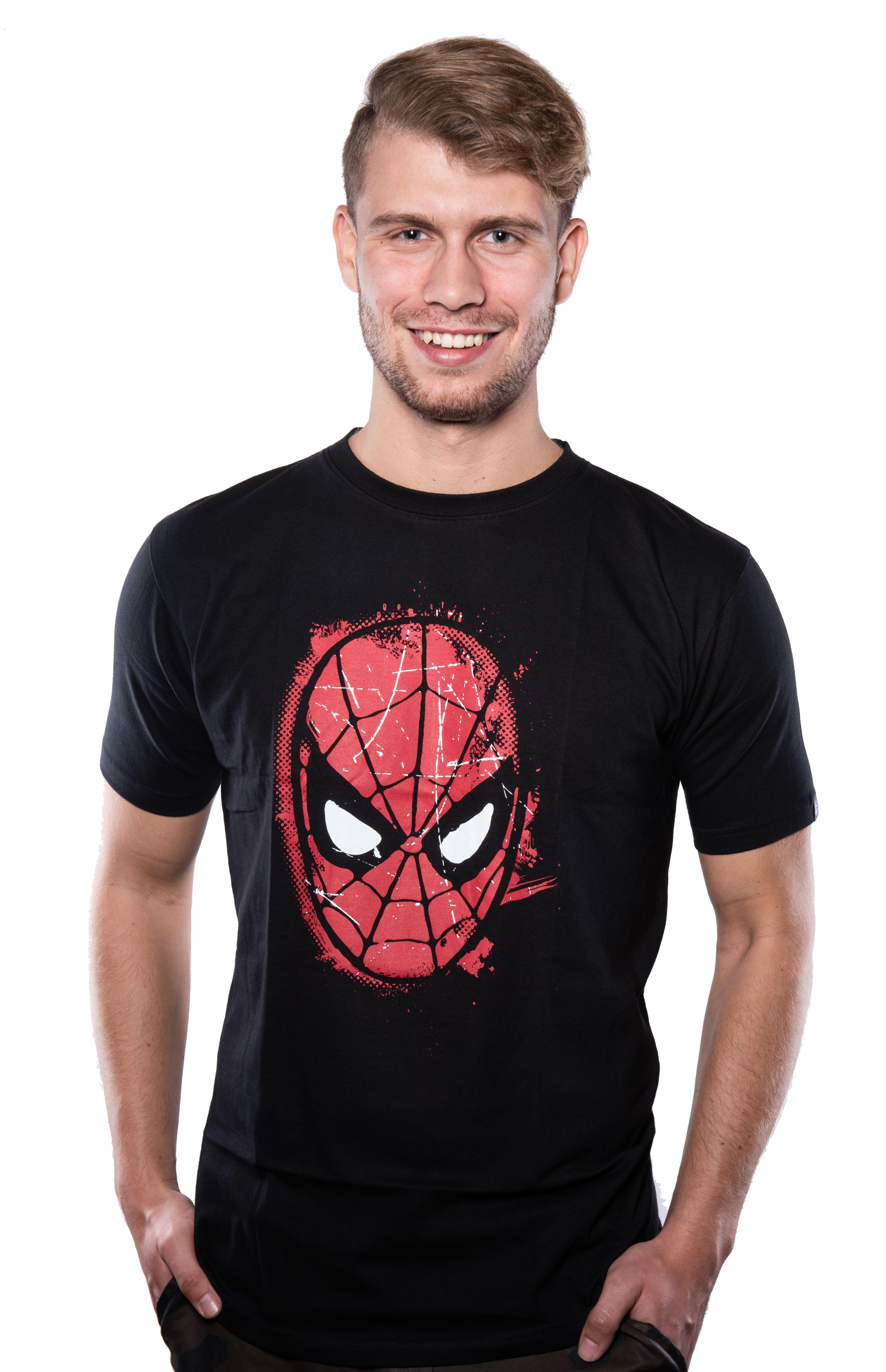 Marvel Comics Spiderman Mask T-shirt XS + kubek Space Invaders