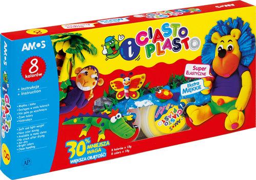 Ciasto-Plasto Amos 8 kolorów