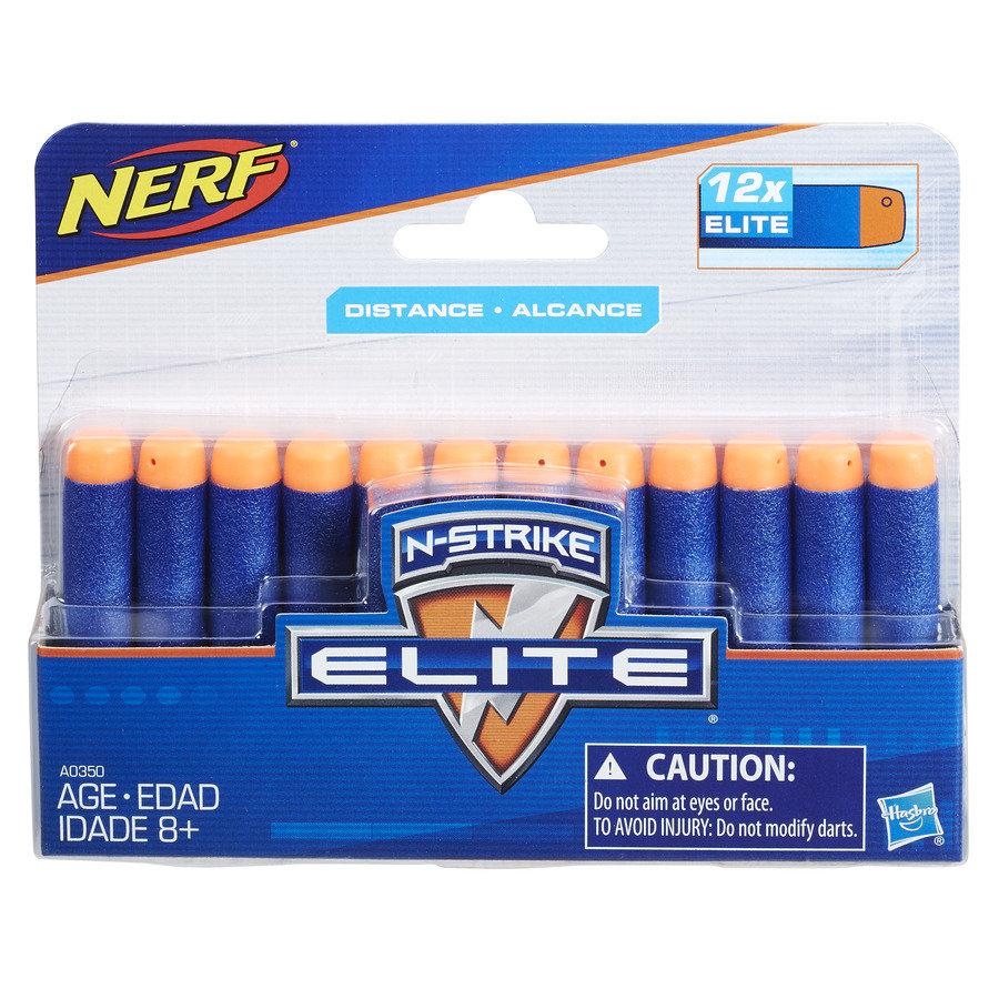 Hasbro Nerf N-Strike Elite - strzałki do wyrzutni, 12 szt, zestaw