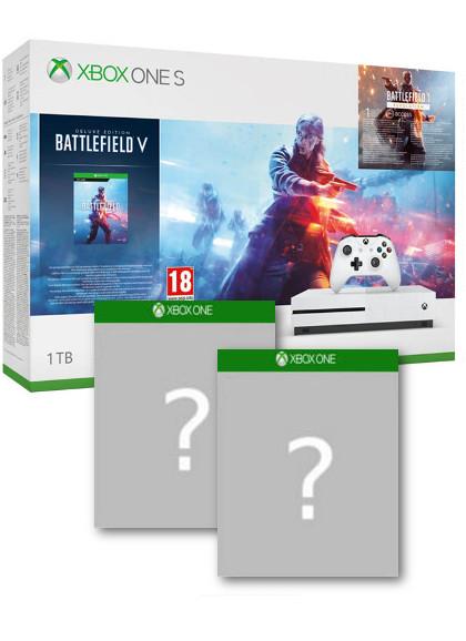 Konsola Xbox One S 1TB + Battlefield V Deluxe + Gears of War 4 + gra-niespodzianka (Xone)