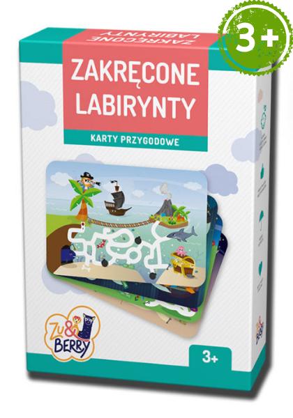 Zakręcone Labirynty Zu & Berry dla dzieci 3+ (gra karciana)