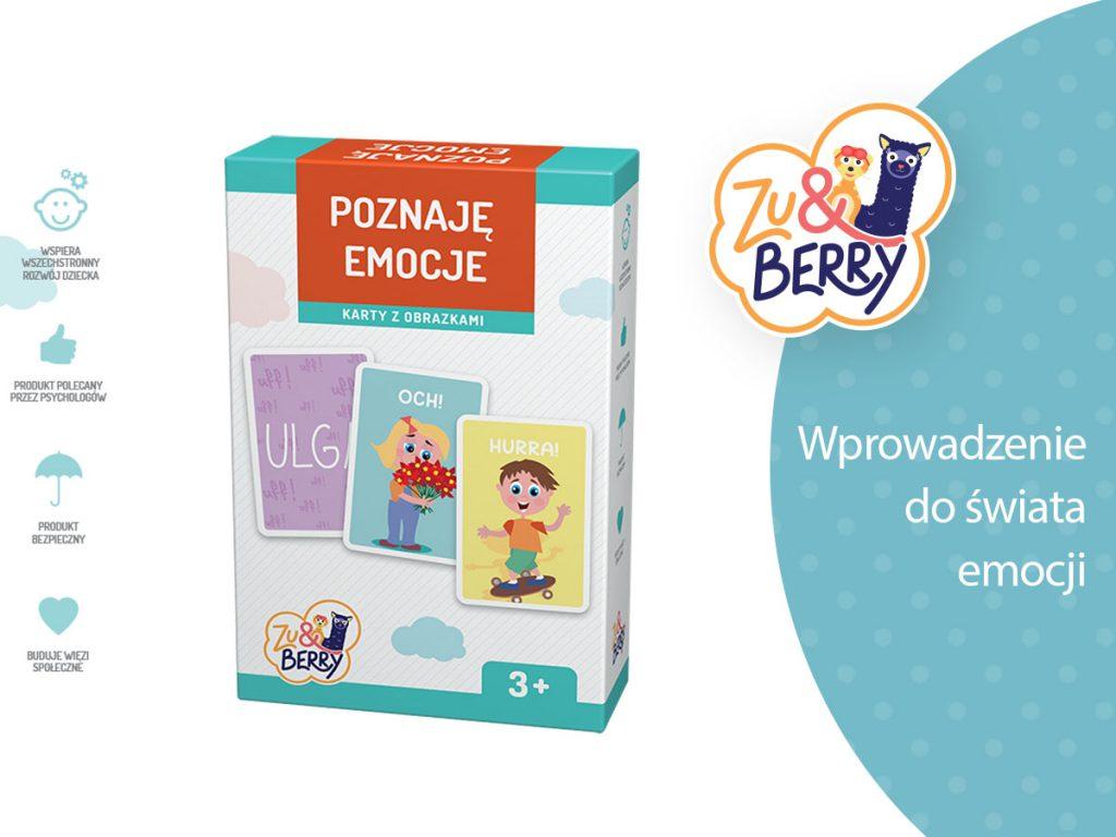 Poznaję emocje Zu & Berry dla dzieci 3+ (gra karciana)