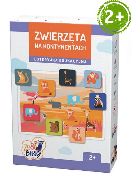 Zwierzęta na kontynentach Zu & Berry dla dzieci 2+ (gra planszowa)