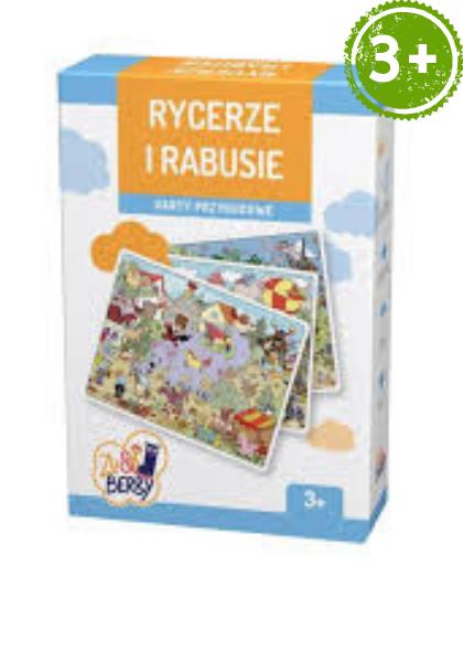 Rycerze i rabusie Zu & Berry dla dzieci 3+ (gra karciana)