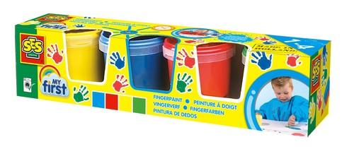 Pierwsze farby do malowania palcami 4 kolory