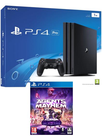 Konsola Sony PlayStation 4 Pro 1TB + Agents of Mayhem