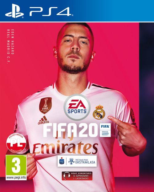 FIFA 20 (PS4) PL + nakładki na Dualshock 4