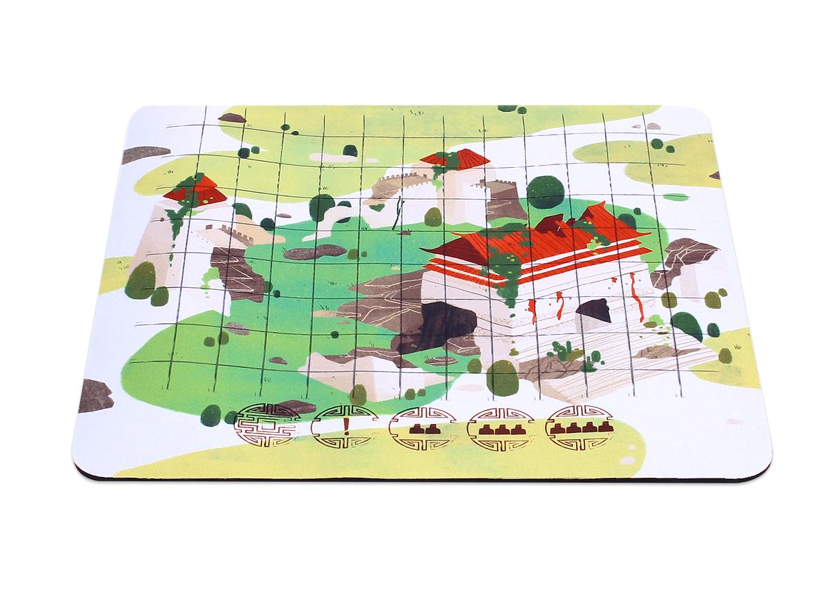 Zamek Smoków - mata do gry