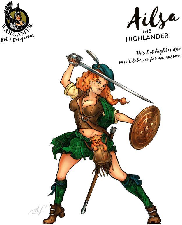 Hot & Dangerous: Ailsa, the Highlander (28 mm)
