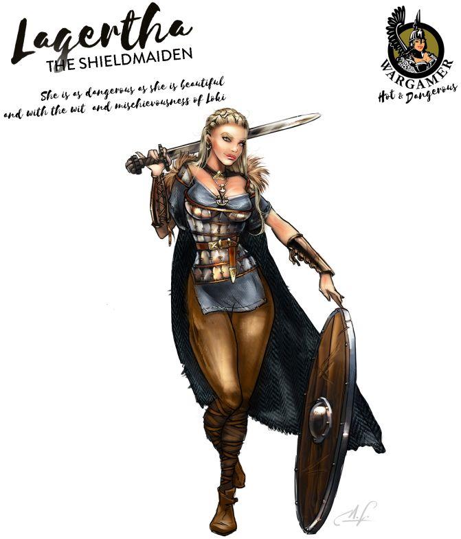 Hot & Dangerous: Lagertha, the Shieldmaiden (54 mm)