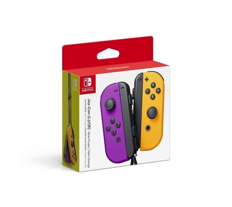 Joy-Con Pair Neon Purple/Neon Orange (Switch) + Brelok