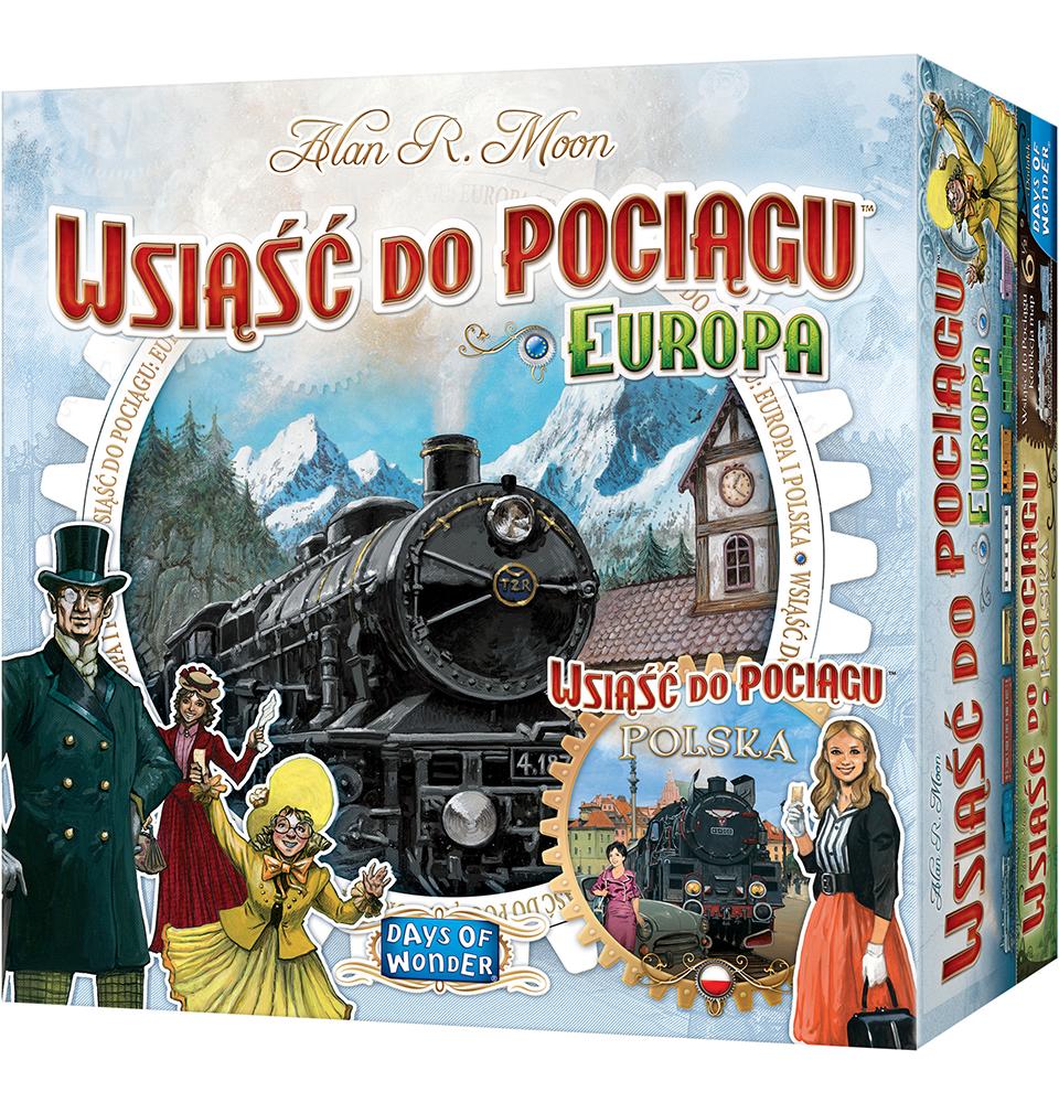 Wsiąść do Pociągu: Polska + Europa (Gra planszowa)