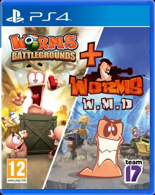 Zestaw Worms Battlegrounds + Worms W.M.D (PS4)