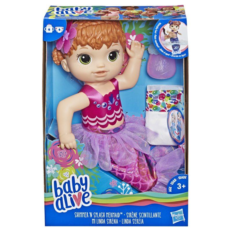 Hasbro - Baby Alive Lalka Migocząca syrenka Ruda