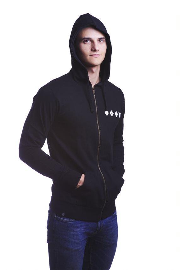 WoT Czarna bluza z kapturem XL