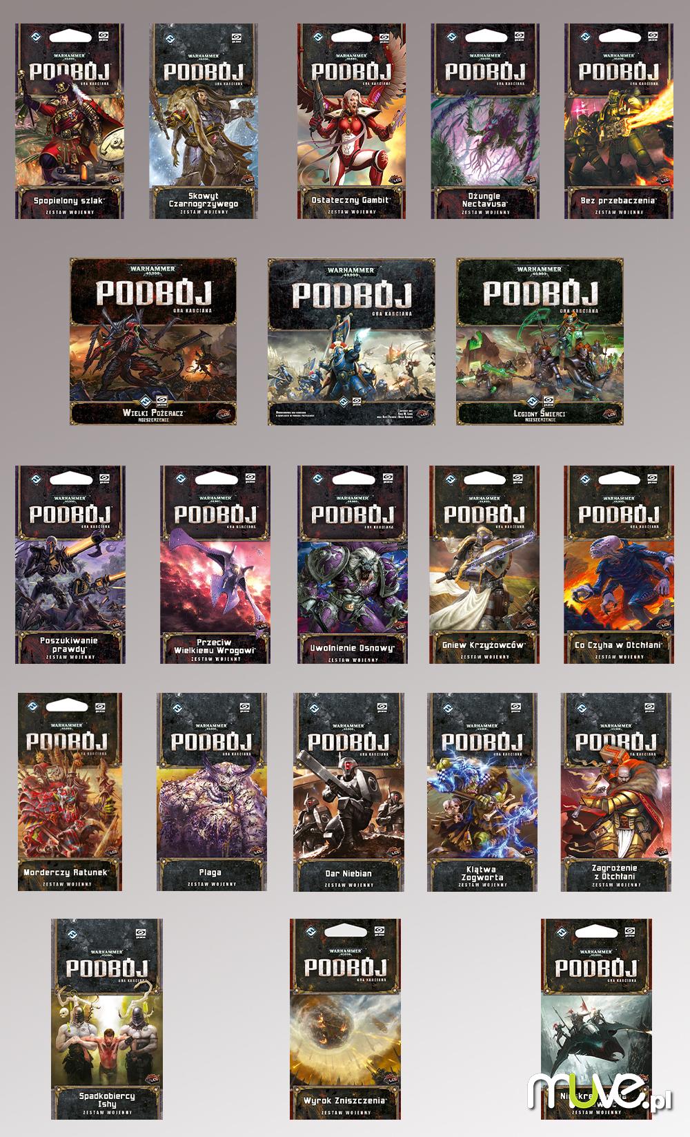 Warhammer 40 000 Podbój zestaw podstawowy + 20 dodatków