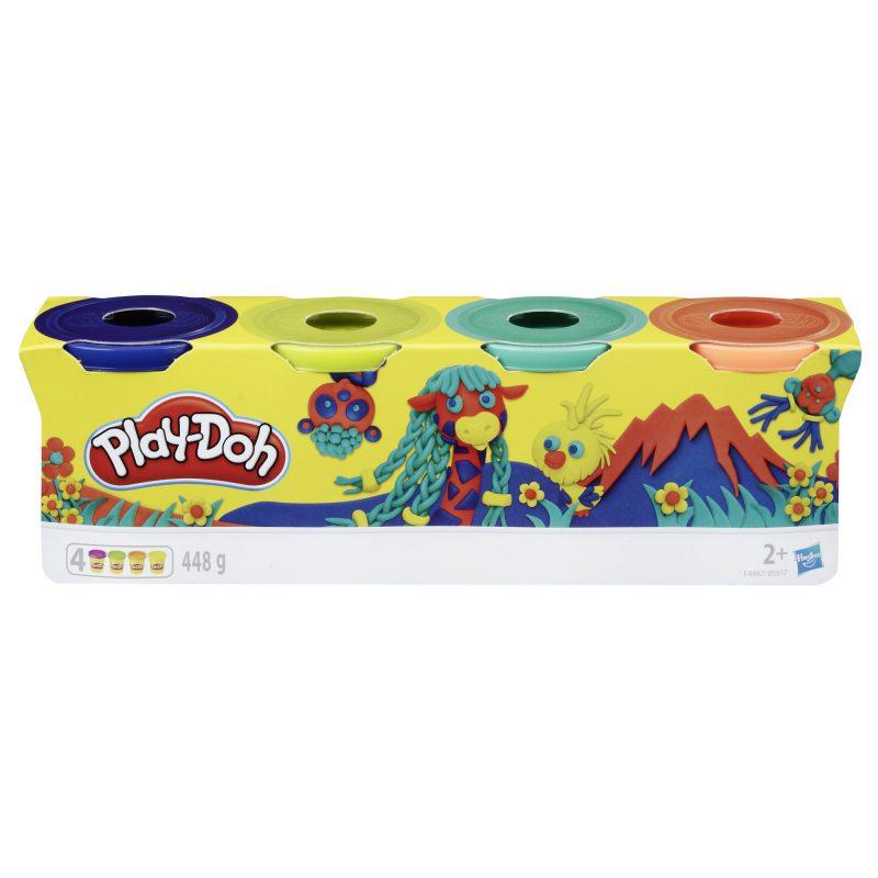 Cistolina PLAY-DOH Zestaw 4 kolorów Wild