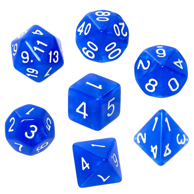 Komplet kości REBEL RPG - Kamienie Księżycowe - Lapis Lazuli