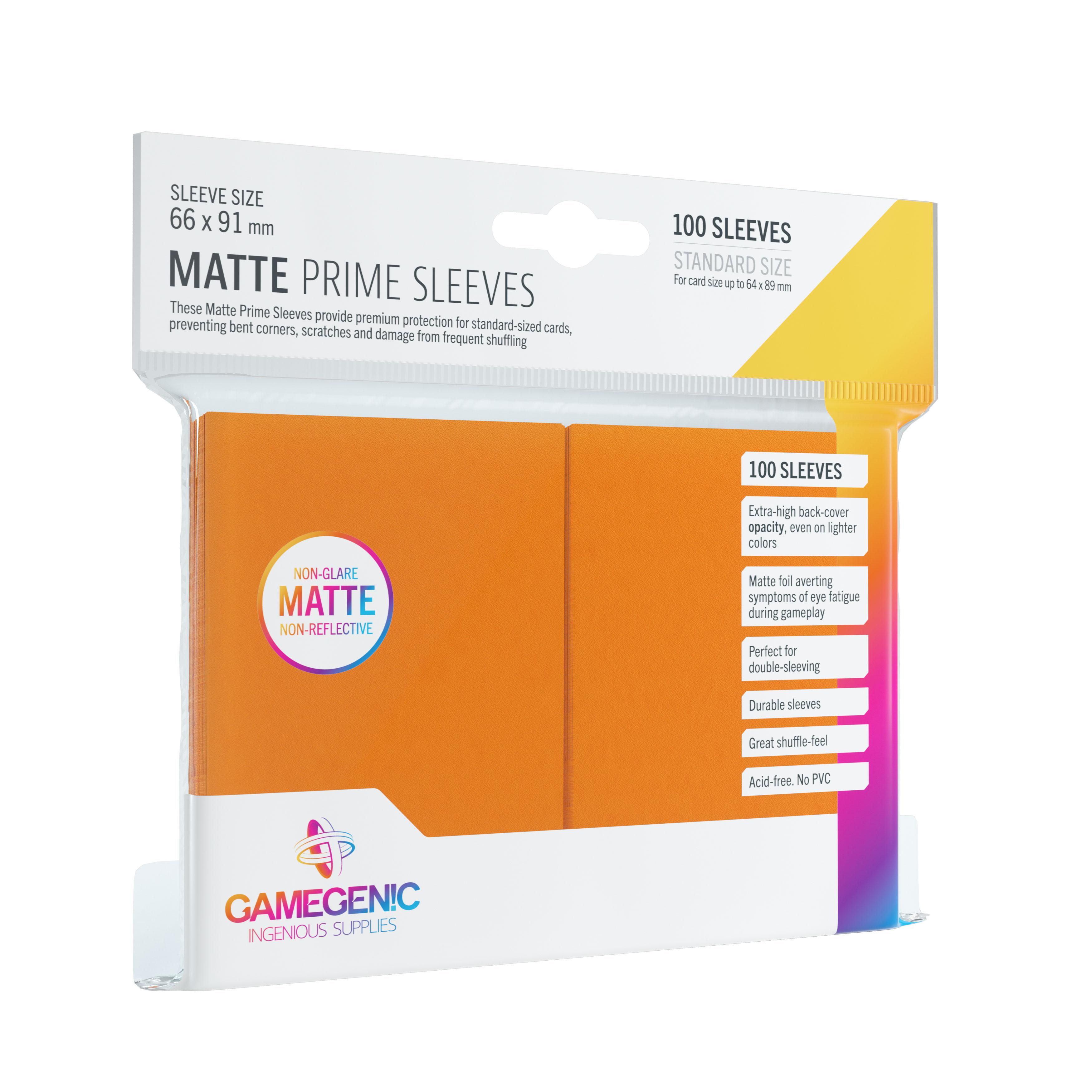 Gamegenic: Matte Prime CCG Sleeves (66x91 mm) - Orange, 100 sztuk