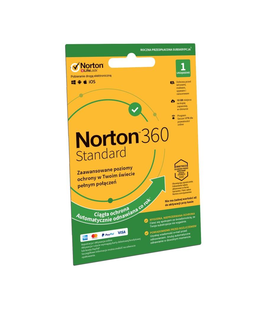 Program Antywirusowy Norton 360 Standard 10 GB (1 urządzenie, 12 miesięcy)