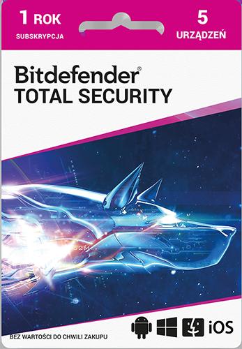 Program Antywirusowy Bitdefender Total Security (5 użytkowników)