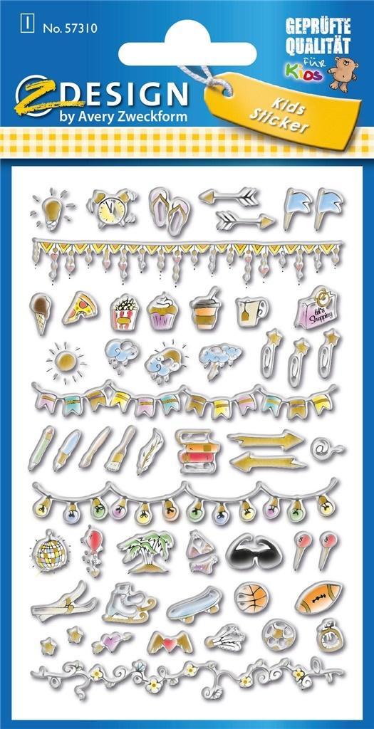 Naklejki wypukłe - Szlaczki i znaczki