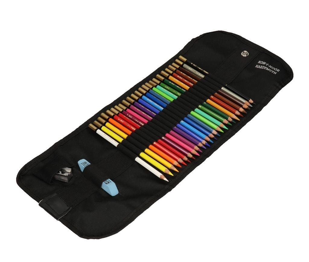 Kredki Mondeluz 24 kolory + pędzel etui