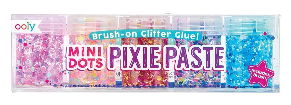 Klej z brokatem Mini Dots Pixie Paste 5 kolorów