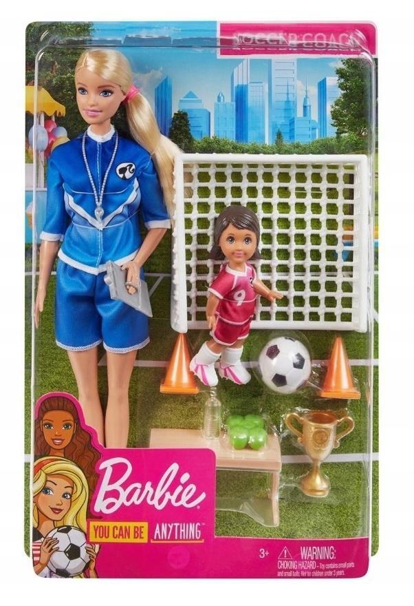 Barbie Zestaw Trenerka piłki nożnej GLM47