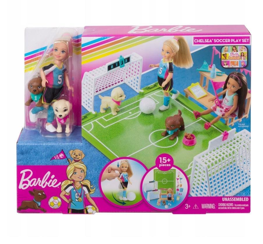 Barbie Chelsea + boisko do piłki nożnej