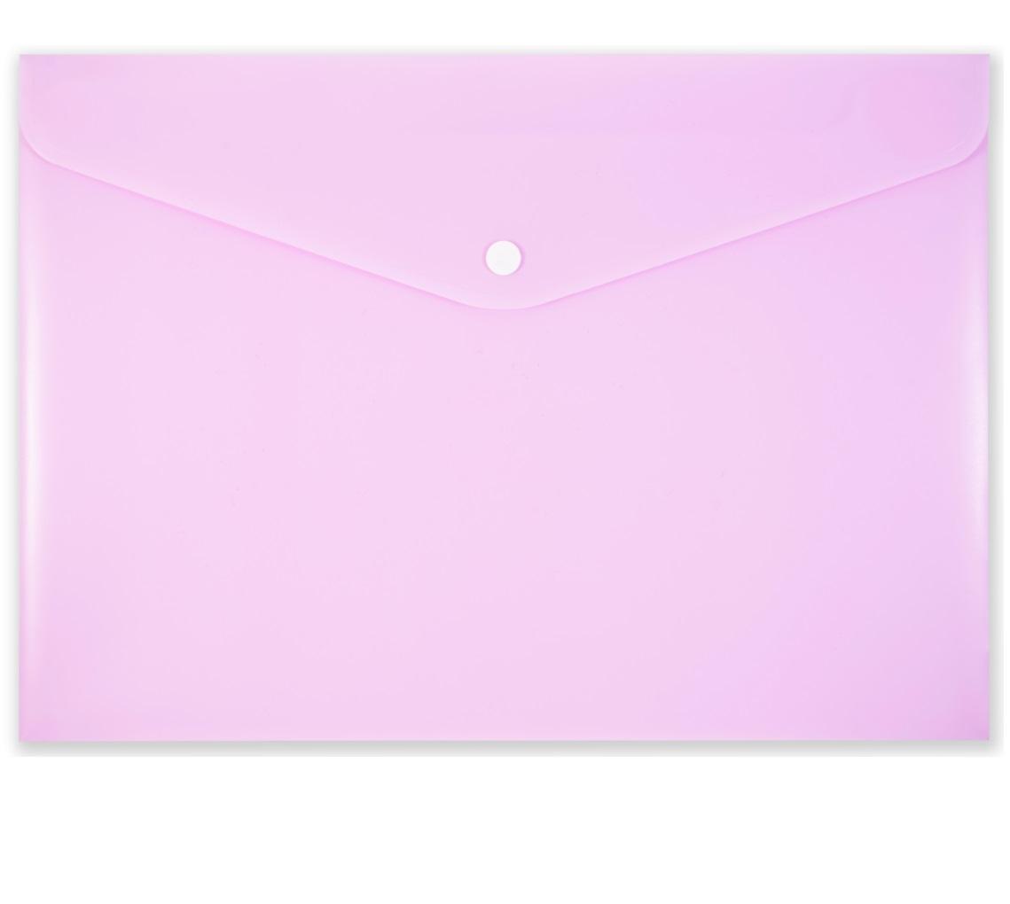 Koperta na zatrzask A4 PP-113 pastelowa różowa