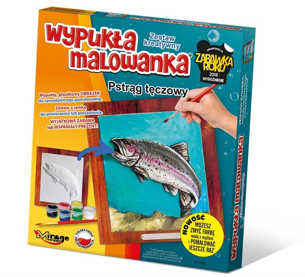 Wypukła Malowanka Ryba - Pstrąg Tęczowy